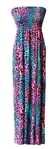 Comfiestyle - Robe - Cocktail - Sans Manche - Femme Multi leopard