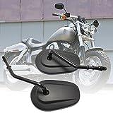 Specchietti Retrovisori Moto 8MM con Angolo Specchio Regolabile per Harley-Davidson Sportster 883 1200 Chopper Fatboy Softail - Nero