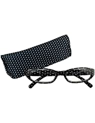 Immerschön Lesebrille in modernem Design gestreift oder mit Pünktchen in tollen Farben Lesehilfe Sehhilfe Brille