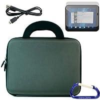 Gizmo Dorks rigida custodia in EVA con maniglie in neoprene (fumo), protezione per schermo, e Micro cavo USB e moschettone portachiavi per il HP TouchPad