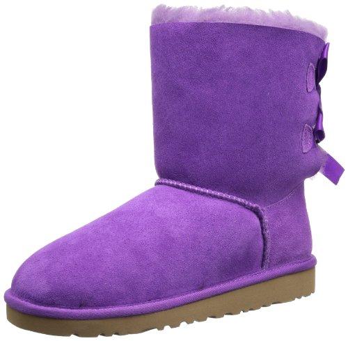 UGG K Bailey Bow, Bottes Classiques mixte enfant Violet - Violett (EVLT (Electric Violet))
