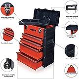 US PRO TOOLS Organizador de herramientas, plástico y acero, color rojo