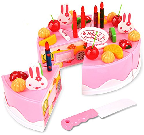 Saffire Musical DIY Birthday Cake Toy, 37 Pieces