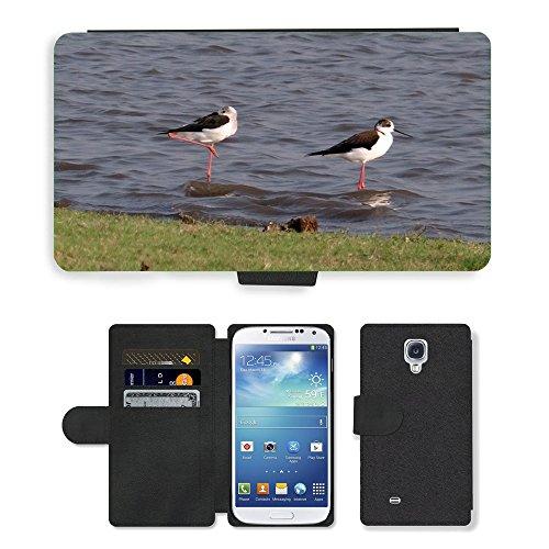 hello-mobile PU LEDER LEATHER FLIP CASE COVER HÜLLE ETUI TASCHE SCHALE // M00137338 Stelzenläufer Gemeinsamen Stelzenläufer // Samsung Galaxy S4 S IV SIV i9500