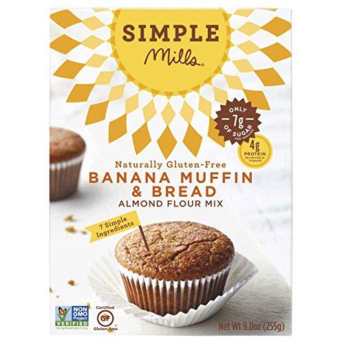 Simple Mills - Focaccina & pane naturalmente Glutine-Liberi della banana del preparato della farina della mandorla - 9 oncia. - Glutine Mandorle Pane