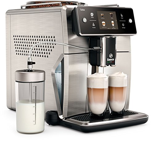 Saeco sm7685/00Xelsis Macchina per caffè, innovativo Touch Screen, hygies Team, Aqua Clean, Alloggiamento in acciaio inox, 1.7L