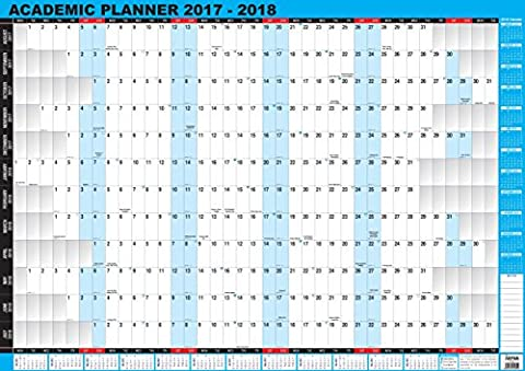 2017-2018 Academic/Student Mid-Year Wall Planner Unmounted A1 Large Size by Arpan (2017-2018 Academic