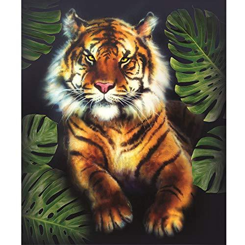Cuadro tigre hogar salón pintura diamante 5D punto