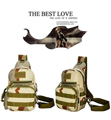 F@Sport indoor femminile impermeabile sacchetti di nylon, escursionismo sacchetti, sacchetti di Digital Camo, borse a spalla, borse tattiche militari appassionati, sacchi da campeggio , black three camouflage