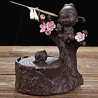 JLZS Ceramic Ashtray With Lid Personality Office Living Room Coffee Table Home Decoration (Color : B)