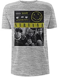 Nirvana Bleach T-shirt gris chiné