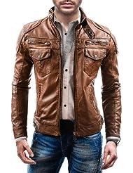 BOLF - Veste - Faux cuir - Fermeture éclair – LIBLAND 3395 - Homme