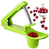 Kirschentkerner Jeracol Kirschentkerner oder Stoner, Kirschkern oder Samenentferner, Küchen Gizmo mit Scoop Design für die Einhandbedienung