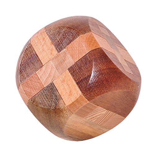 PhantomSky 3D Holz Gehirn Puzzle #15 - Fordern Sie Ihr Logische Denken und Töten Die Langweilige Zeit - Perfekte Geschenk für Kinder