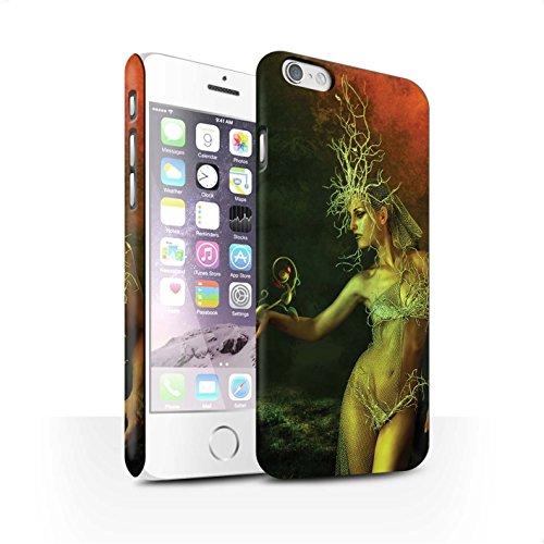 Officiel Elena Dudina Coque / Clipser Matte Etui pour Apple iPhone 6 / Reine des Forêts Design / Un avec la Nature Collection Reine des Forêts