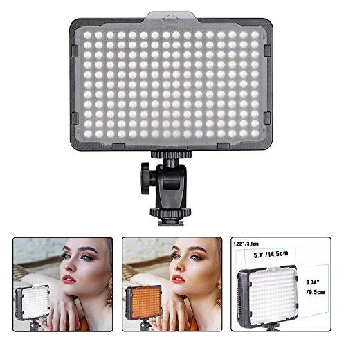 Bestter Luce LED Video - 176 LED Ultra luminoso dimmerabile pannello luminoso per Canon, Nikon, Pentax, Panasonic, Olympus e altre fotocamere/videocamere SLR Digitali (Batteria non inclusa)