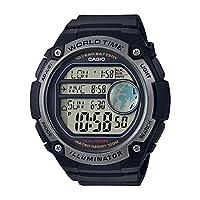 ساعة كوارتز بعرض رقمي وسوار من الراتنج للرجال من كاسيو، طراز AE-3000W-1AVDF