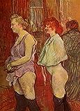 The Poster Corp H. de Toulouse-Lautrec - La Visite Rue des