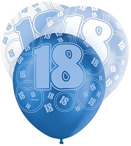 Unique Party Latex-Luftballons für den Geburtstag, glitzernd, 30,5cm, (Party Supplies Raum)
