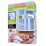 POWERFIX® 2x Fliegengitter (Anthrazit) 130 x 150 cm inkl. Klebeband