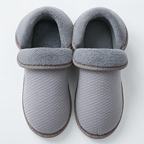 pantofole Fankou graziosi di interni home spesso fine donne di più cartoon cotone e scivolose al uomini Hellbraun caldo di paio con inverno borsa r4CZwqHr