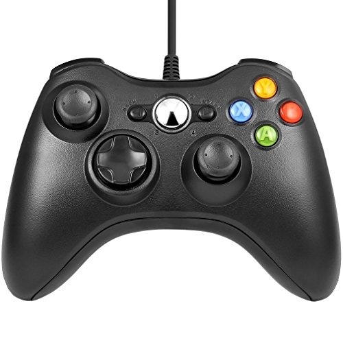 JAMSWALL Xbox 360 Controller, PC Gamepad cablato USB Joystick di gioco Joypad per Xbox 360, controller di design ergonomico migliorato per Xbox 360 System PC con Windows XP / Vista / 7/8 / 8.1 / 10