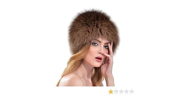 OLLEBOBO Vera Pelliccia Volpe Cappello Donna Stile Russo Cosacco Caldo  Elegante marrone  Amazon.it  Abbigliamento e09d10e9ace4