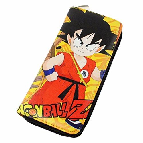 Billetera de piel de Goku niño para mujer Dragon Ball
