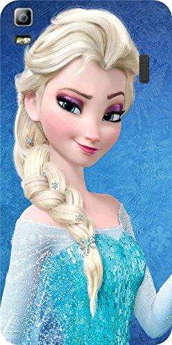 Shengshou Frozen Cartoon Girl Design Mobile Back Cover for Lenovo A7000 K3 Note - Blue