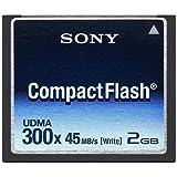 Sony 2GB 300X CF 2GB CompactFlash memoria flash - Tarjeta de memoria (CompactFlash, 42,8 x 3,3 x 36,4 mm, 3.3 - 5)