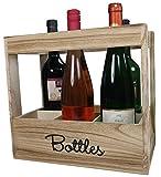 khevga Weinkiste für 6 Flaschen Wein - Flaschenkiste aus Holz