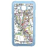 LAPINETTE COQUE-J3-2016-METRO - Funda para Samsung Galaxy J3, diseño de Metro Mapa