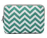 Chevron Segeltuchstoff Hülle Sleeve Schultertasche für MacBooks Laptops Vert clair 13-13.3 Inch