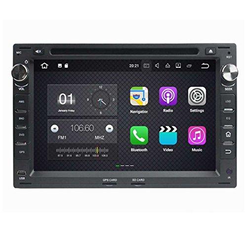 (Negro) 7 pulgadas Coche Radio con GPS Quad Core Android 7.1 para Volkswagen/VW Passat B5(1999-2005)/Golf 4(1999-2005)/Polo(1999-2005)/Bora(1999-2005)/Jetta(1999-2005)/Sharan(1999-2005)/T5(1999-2005)/Citi(2004-2009)/MK3(2000-2009)/MK4(2000-2009)/Golf(2004-2005),DAB+ radio
