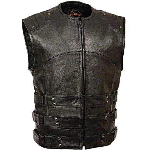 Preisvergleich Produktbild Herren Armadillo SWAT Weste mit verstellbarer Leder-Seitliche Klettverschlüsse