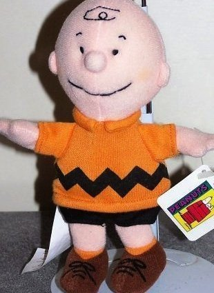 Charlie Brown Stuffed Plush Bean Bag Toy by Applause