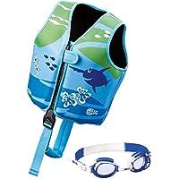 Beco - Kinder Sealife Schwimmlernweste, Größe M für 4-6 Jahre, Mehrfarbig (Blau/Grün) + Schwimmbrille [ blau ] preisvergleich bei billige-tabletten.eu