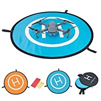 Drone Landing Mat – Meersee 75cm Waterproof Portable Landing Pad for RC Drones Helicopter DJI Mavic Pro Phantom 3 Phantom 4 Inspire 1 and other Quadcopters from Meersee
