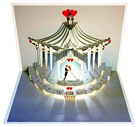 Forever Carte pop up de vœux de mariage en 3D 16x11cm