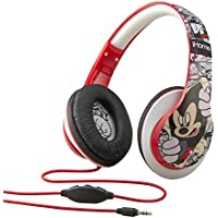 Mickey Mouse Over-the-Ear Fashion Headphones with in-line Volume Control