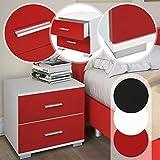 MIADOMODO Nachttisch Nachtkommode Beistelltisch im klaren Design pflegeleichtes Material und vielseitig kombinierbar mit Farb- und Setwahl