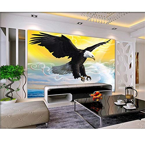 Xbwy Benutzerdefinierte Foto 3D Wallpaper Vlies L Der Himmel Der Adler Fliegen Dekoration Malerei 3D Wand Ls Tapete Für Wände 3D-150X120Cm
