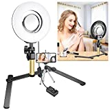 Neewer Tabletop Makeup Ring Light Kit: 8-inch Dimmable Mini LED Ring Light