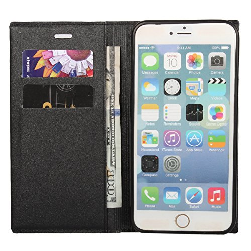 """MOONCASE iPhone 6 Case Prime PU Cuir Housse Étui pour iPhone 6 4.7"""" Portefeuille de Protection Coque avec La Fonction Stand Hot Rose Hot Rose"""