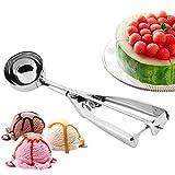 Wicemoon Eisportionierer aus Edelstahl für Kartoffelschaufel mit Griff, für Eiscreme, Bälle, Zuckerlöffel, Edelstahl, 6cm
