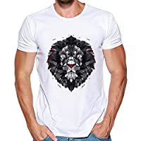 Running Tops Mens Top T-Shirts Quick Dry Wicking Gym Athletic Training Workout Tee Shirts(White,3XL)
