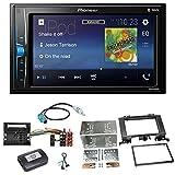Pioneer MVH-A200VBT USB Bluetooth MP3 WMA Autoradio 2-Din Moniceiver Einbauset für Mercedes Sprinter W906 Crafter
