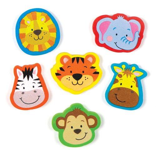 Radiergummis 'Dschungelfreunde' für Kinder als kleine Überraschung oder als Preis bei Partyspielen...