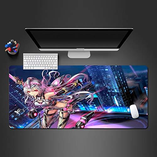 Sxkdyax moderne städtische Fantasie-Mädchen-Mausunterlage-Spiel-Spieler-Computer-große Schreibtisch-Matte zum Gamer Mauspads Kühle Gifts-90CMX40CM