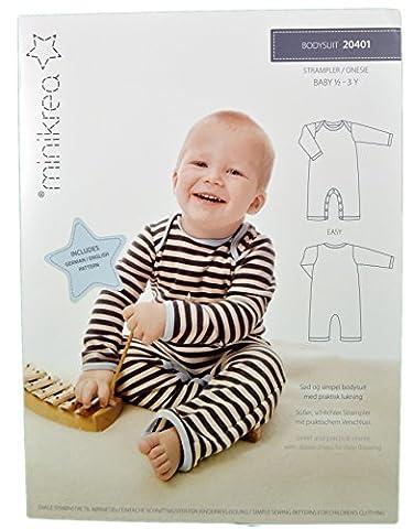 Schnittmuster Strampler für Babys & Kinder / Gr. 74-98cm /